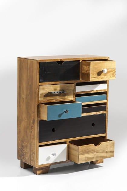 design Babalou 10 Kare Eu Cassettiera Legno In TKJ1lF3c