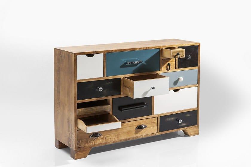 design Cassettiera Kare In Massello Modulare Legno Eu 14 Babalou CrdhtQs