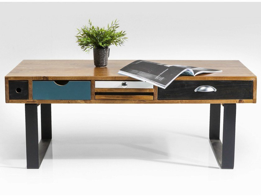 Lacquered rectangular wooden coffee table BABALOU EU | Coffee table by KARE-DESIGN
