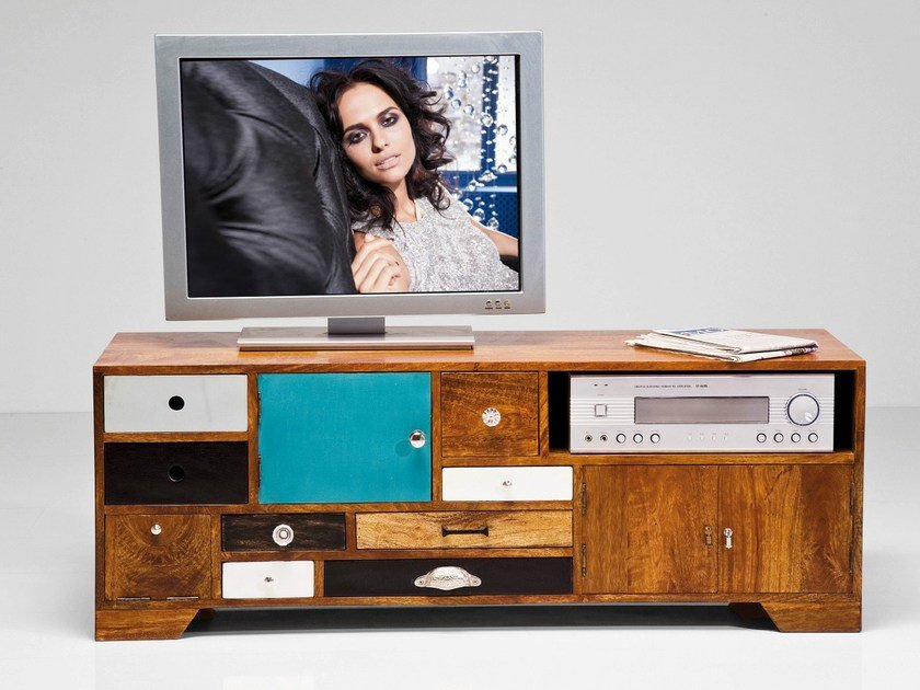 Lacquered wooden TV cabinet BABALOU   TV cabinet by KARE-DESIGN