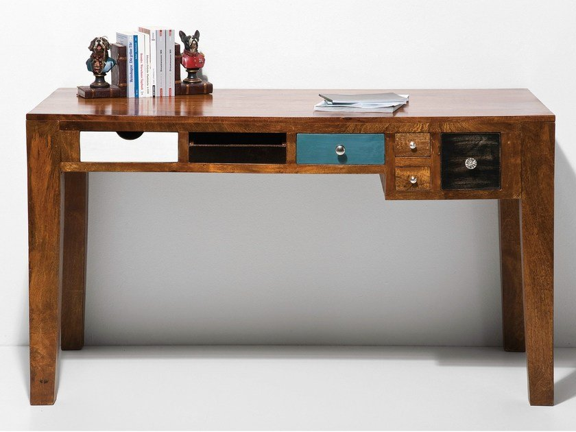 Lacquered writing desk with drawers BABALOU | Writing desk by KARE-DESIGN
