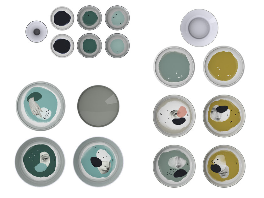 Melamine plates set BABEL by IBRIDE