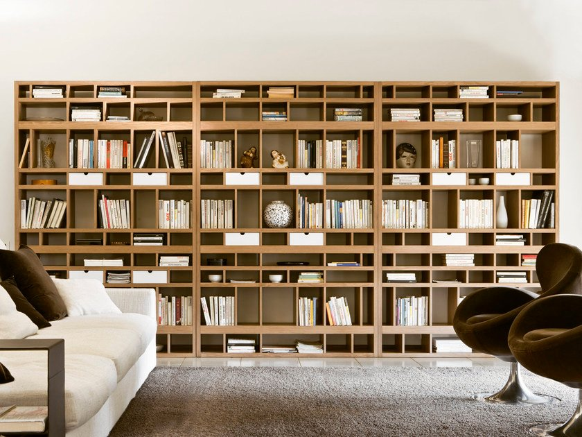 Open bookcase with drawers BABELE by Pacini & Cappellini