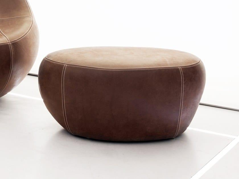 Leather pouf BABY FLIRTSTONE by spHaus