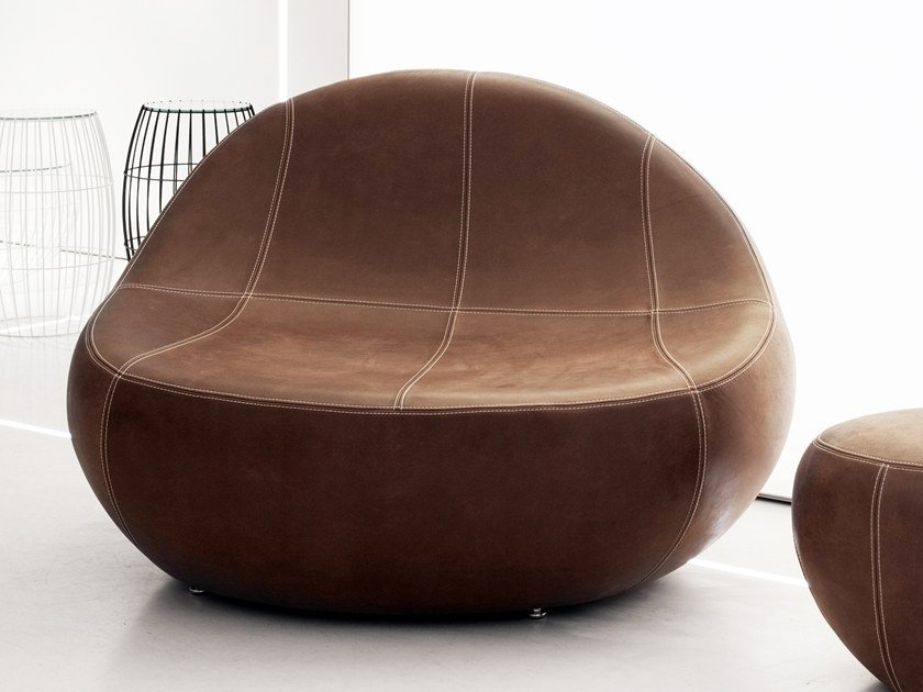 Leather easy chair BABY FLIRTSTONE by spHaus