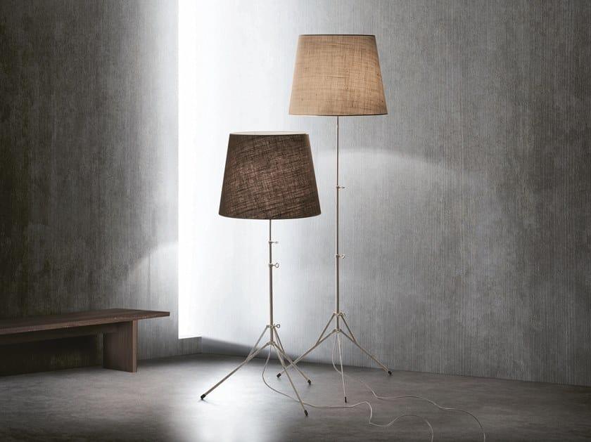 Height-adjustable jute floor lamp BABY GILDA by Pallucco