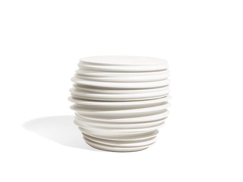 Ceramic materials coffee table / garden pouf BABYLON | Garden side table by Dedon
