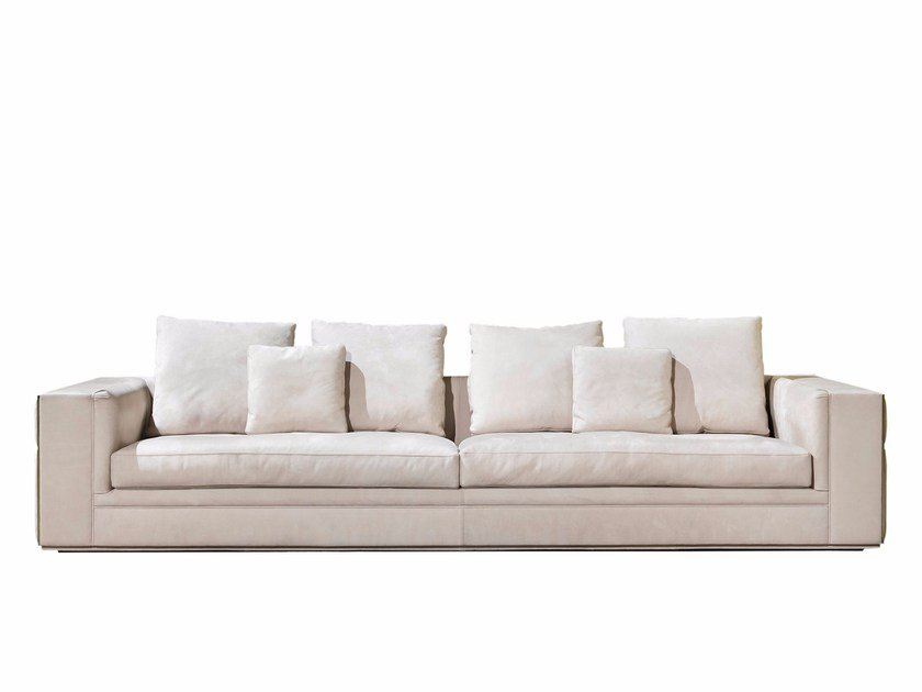 Sectional leather sofa BABYLON by Visionnaire