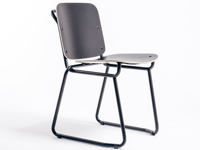 Sled base chair BABYLONE 01 by Manganèse Éditions