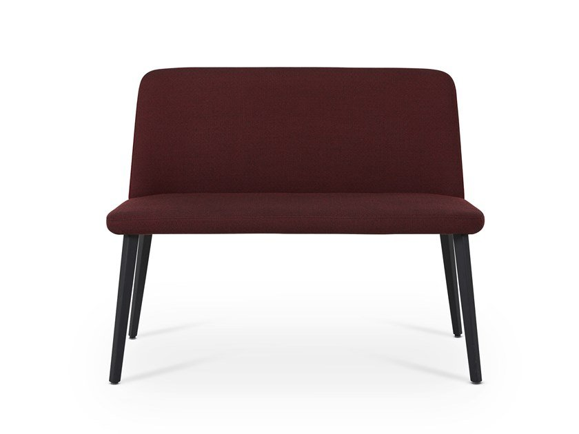 Fabric bench with back BACK ME UP TWO by Montis