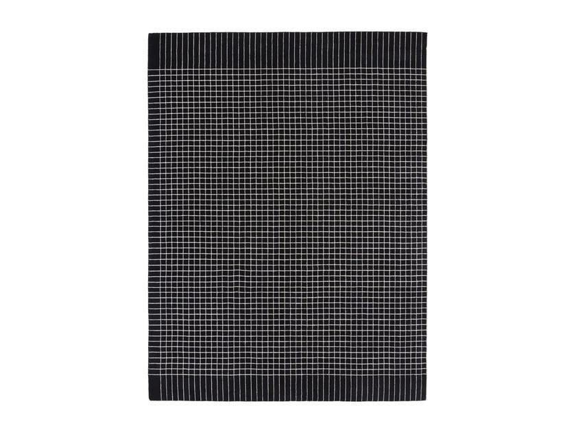 Handmade custom rug BACK TO SCHOOL BLACK by cc-tapis