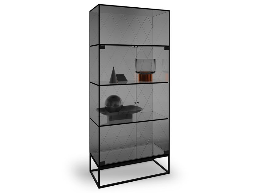 Stained glass display cabinet BACKDROP by EXENZA