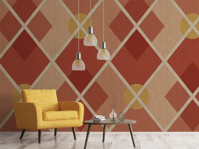 Geometric vinyl wallpaper BACKGAMMON by Baboon