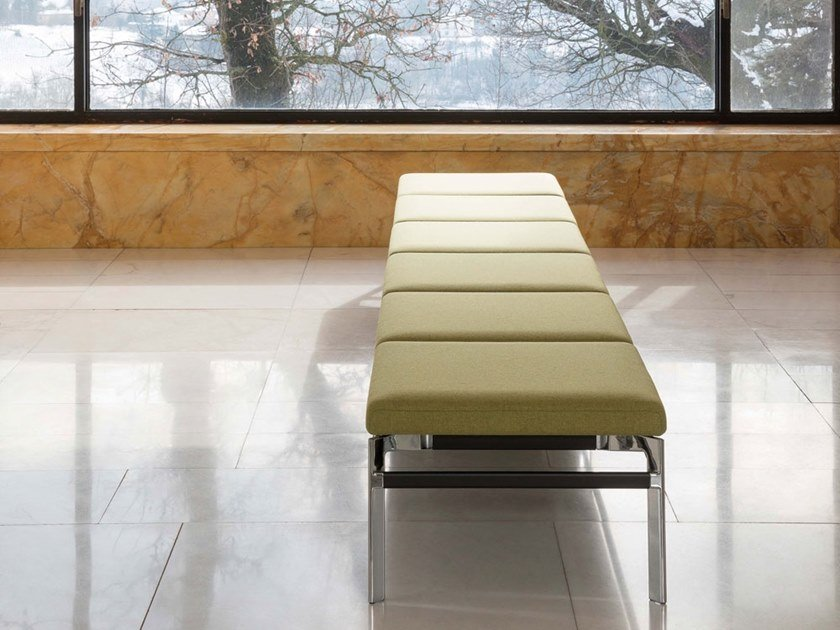 Backless fabric bench seating PONTE | Backless bench seating by Luxy
