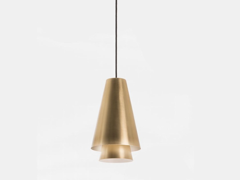 LED brass pendant lamp BAGAN 281.03.ON by Il Fanale