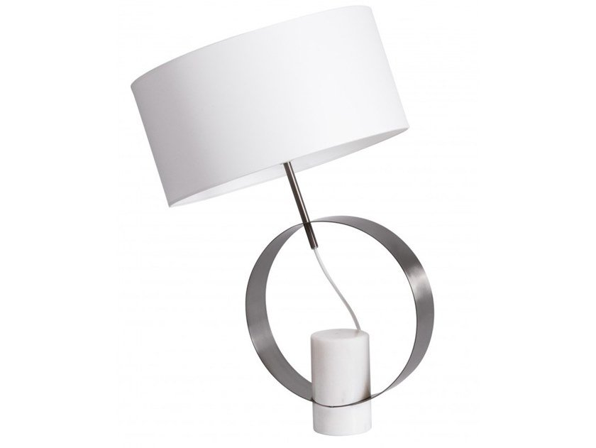 Marble table lamp BAGUE by Flam & Luce