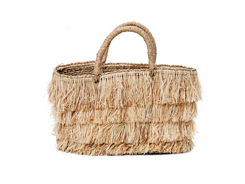 Raffia bag BAHAMAS BASKET by Bazar Bizar