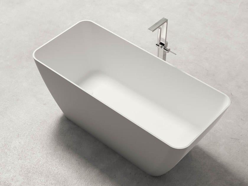 Vasca da bagno centro stanza rettangolare in Kstone BAHIA by Karol
