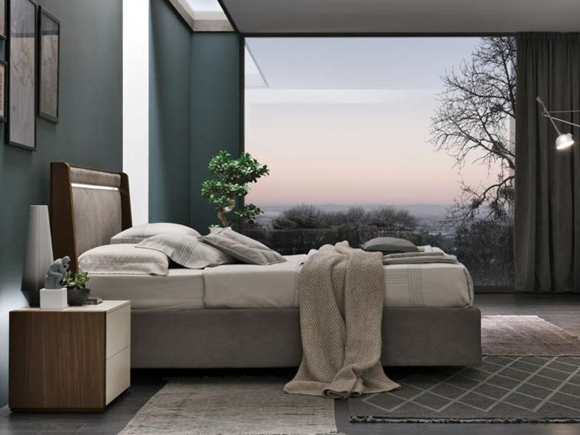 Bed double bed with integrated lighting BAHIA by Gruppo Tomasella