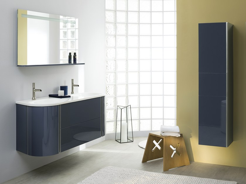 Double lacquered wall-mounted vanity unit BAILA by SANIJURA