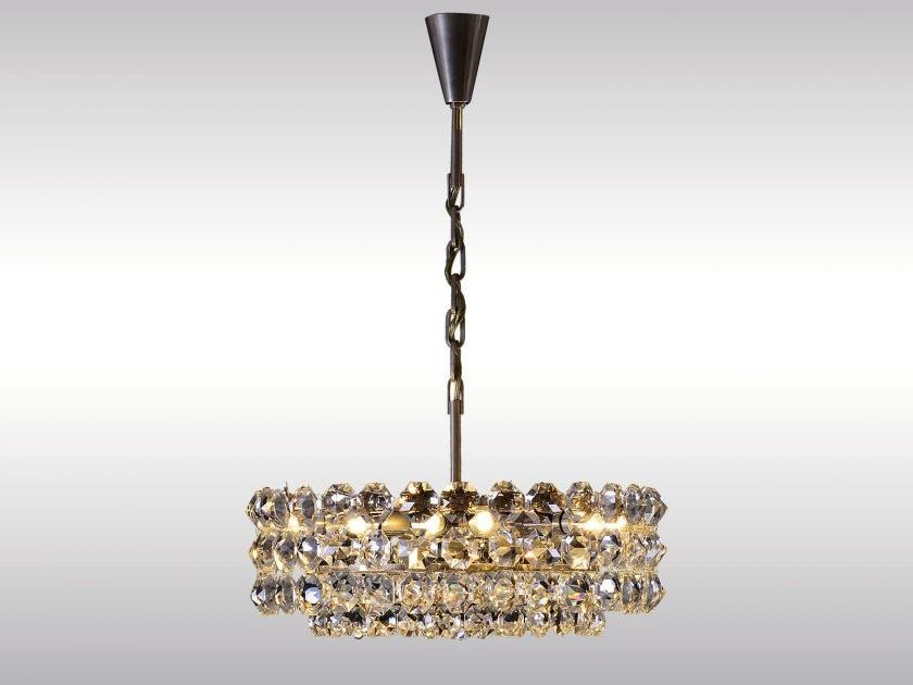 Classic style crystal pendant lamp BAKALOWITS CHANDELIER by Woka Lamps Vienna