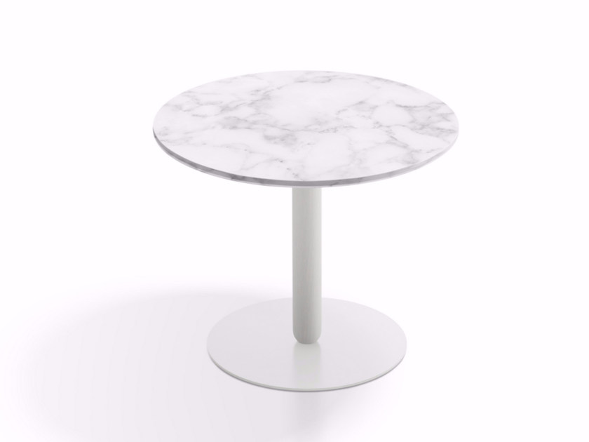 Round marble side table BALANS   Marble coffee table by Artifort