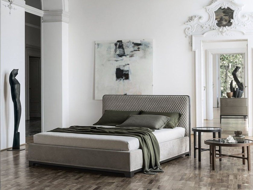 Leather bed double bed BALI by ALIVAR