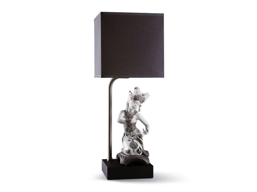 Porcelain table lamp BALI DANCER KNEELING by Lladró