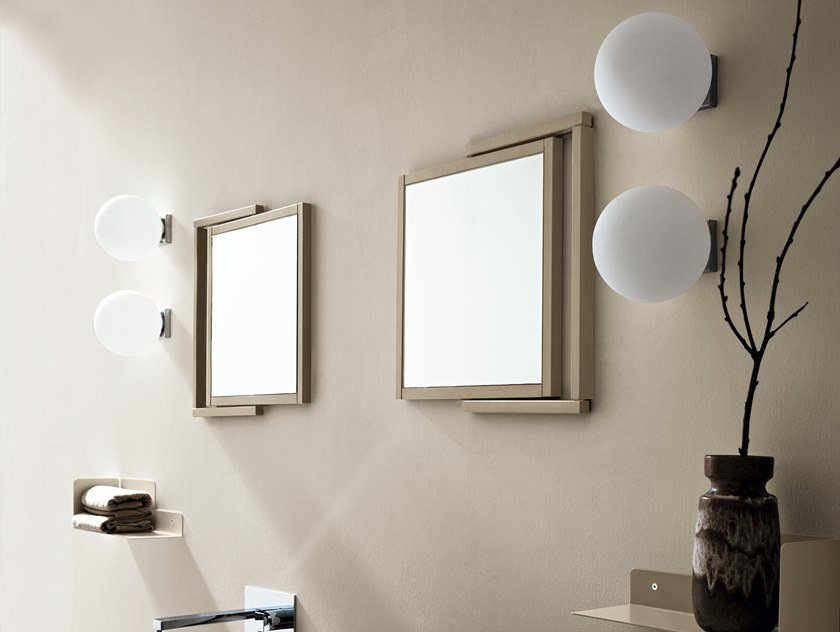 Glass wall light for bathroom BALL by Cerasa