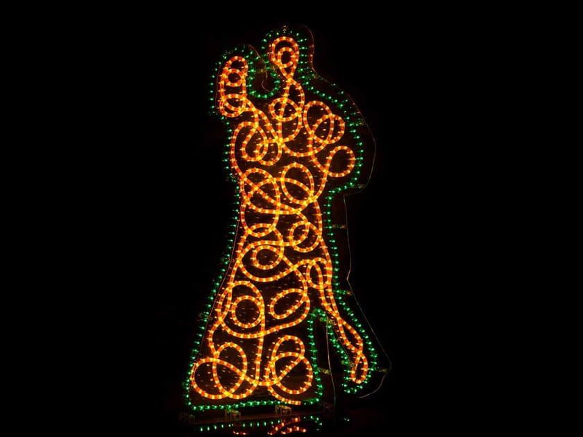 Scultura luminosa in plexiglass BALLERINI by Mirabili