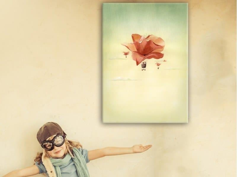 Hemp Canvas print BALLOON FLOWER by ACTE-DECO