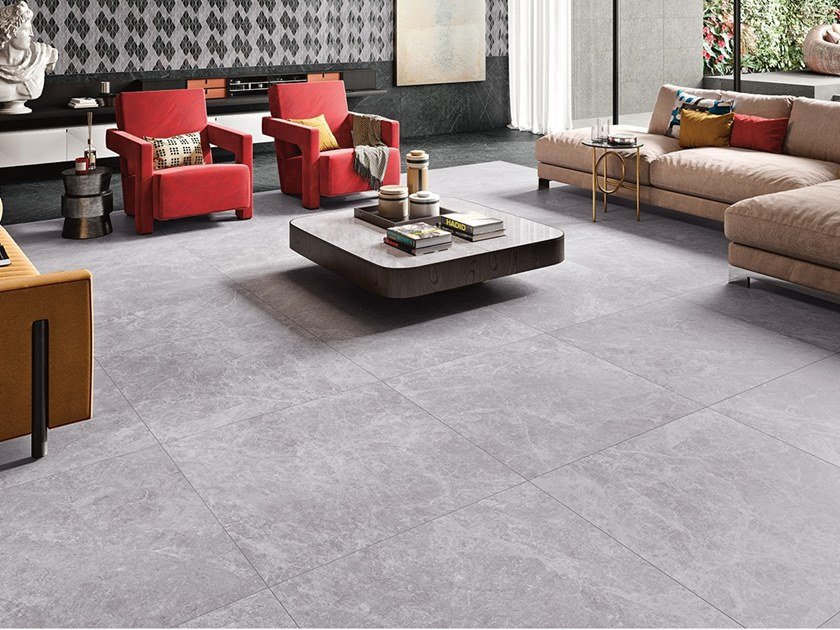 Wall/floor tiles with marble effect BALTIC GREY by Revigrés