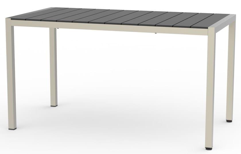 Tavolo da giardino rettangolare in HPL BALTIC | Tavolo in laminato by Adico