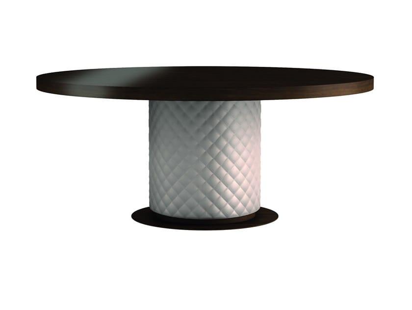 Round wood veneer dining table BALTIMORA by SELVA