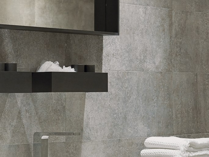 Wall/floor tiles with concrete effect BALTIMORE GRAY by Venis