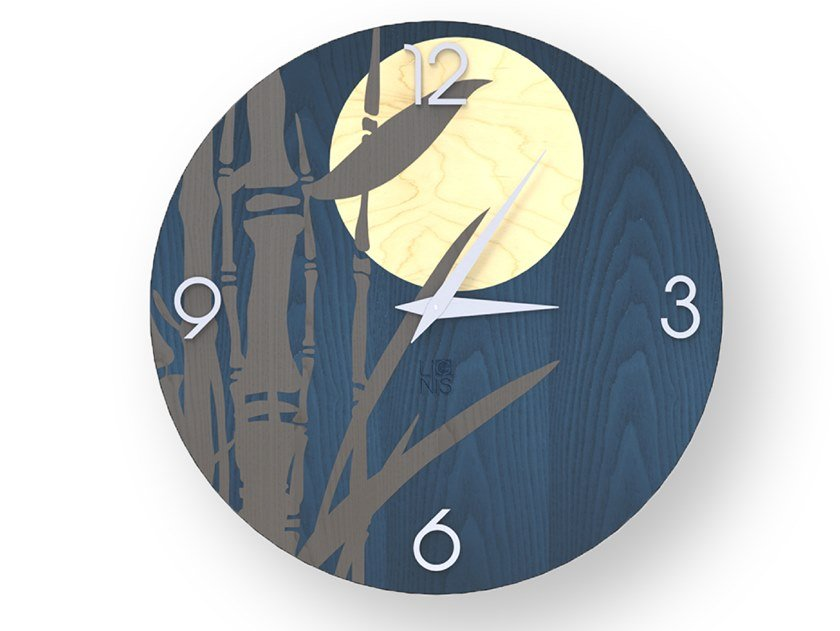 Wall-mounted wooden clock BAMBOO COLORS   Clock by LIGNIS®