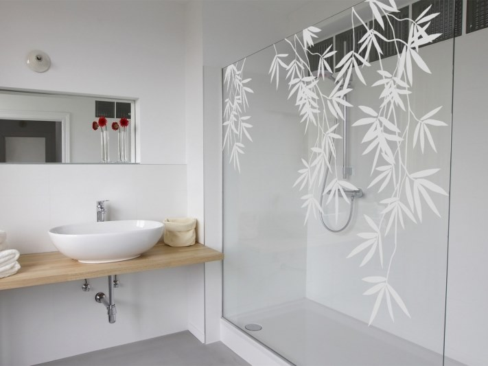 Wall sticker / window film BAMBOO FLORAL by ACTE-DECO