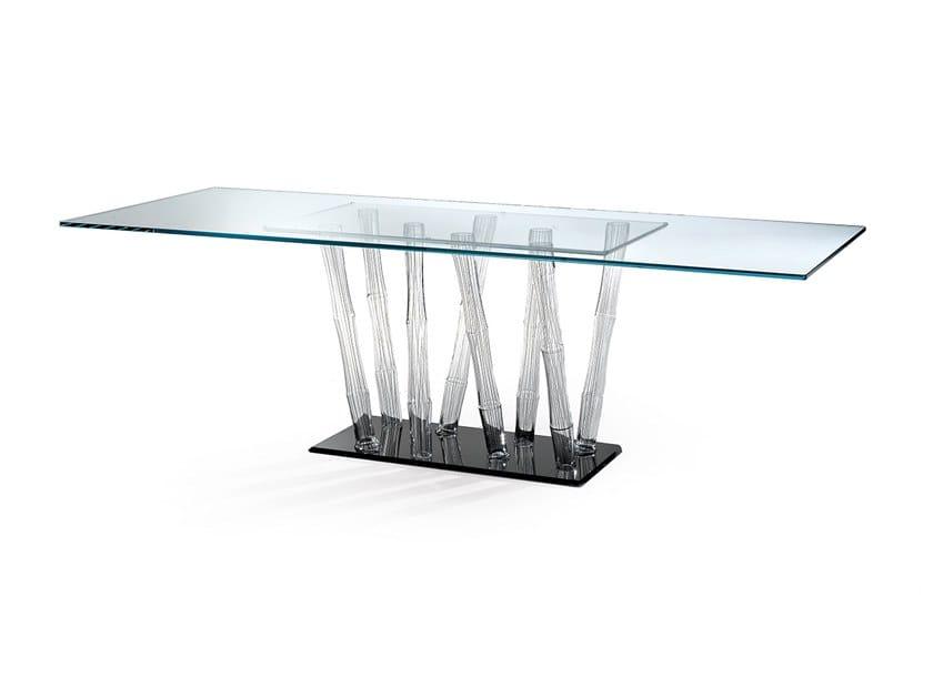 Tavolo da pranzo in vetro BAMBOO   Tavolo in vetro by Reflex