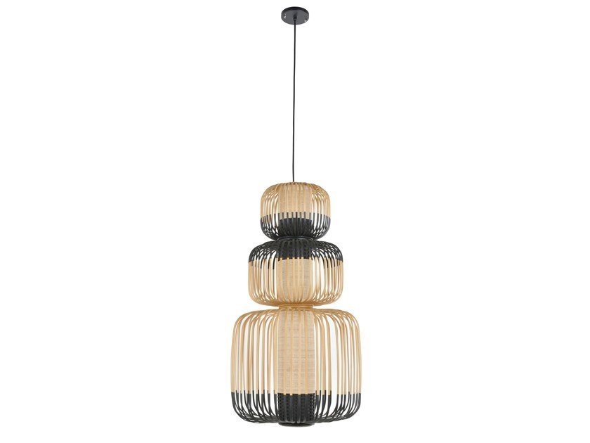 Bamboo pendant lamp BAMBOO LIGHT TOTEM 3 LIGHTS | Pendant lamp by Forestier