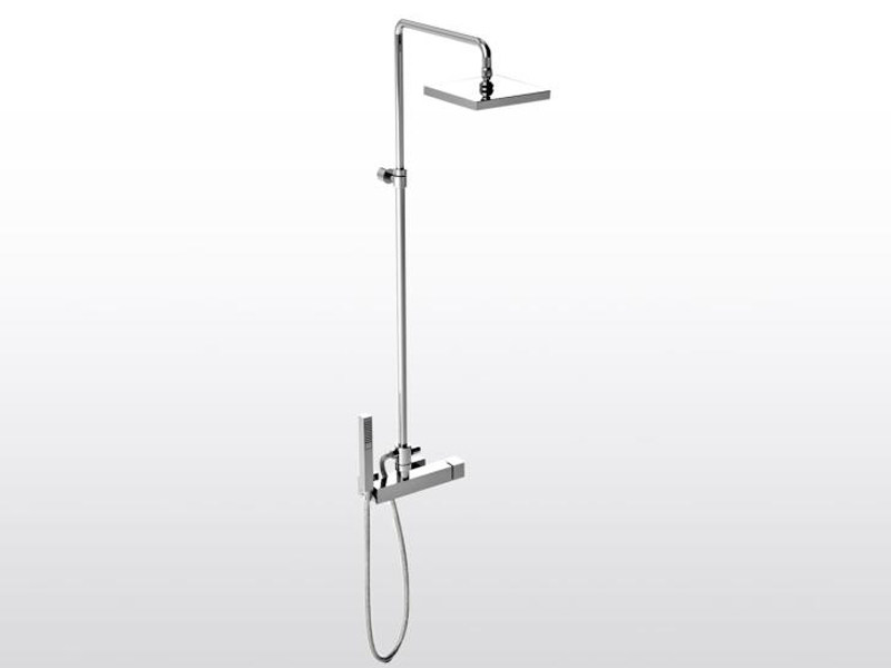 Shower panel with hand shower BAMBOO QUADRO 3283TA/306 by RUBINETTERIE STELLA