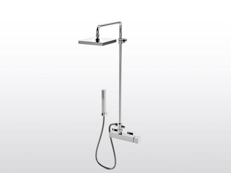 Shower panel with hand shower BAMBOO QUADRO 3283TB/304 by RUBINETTERIE STELLA