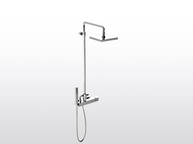 Shower panel with hand shower BAMBOO QUADRO 3283TB/306 by RUBINETTERIE STELLA
