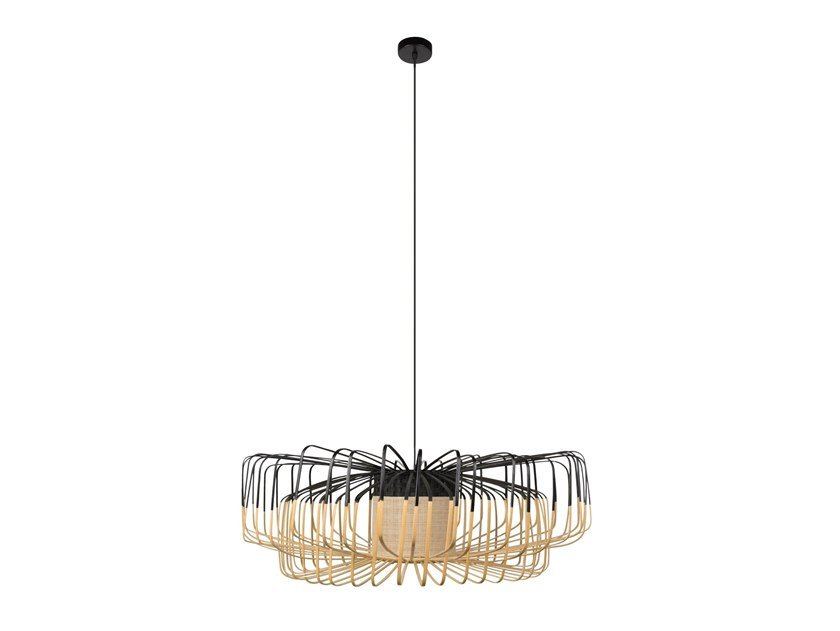 Bamboo pendant lamp BAMBOO UP AND DOWN   Pendant lamp by Forestier