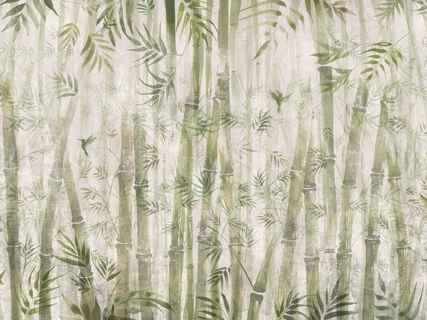 Ecological washable PVC free wallpaper BAMBOO by Wallpepper