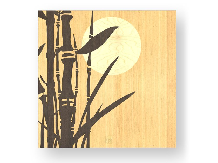 Wooden Decorative panel BAMBOO WARM by LIGNIS®