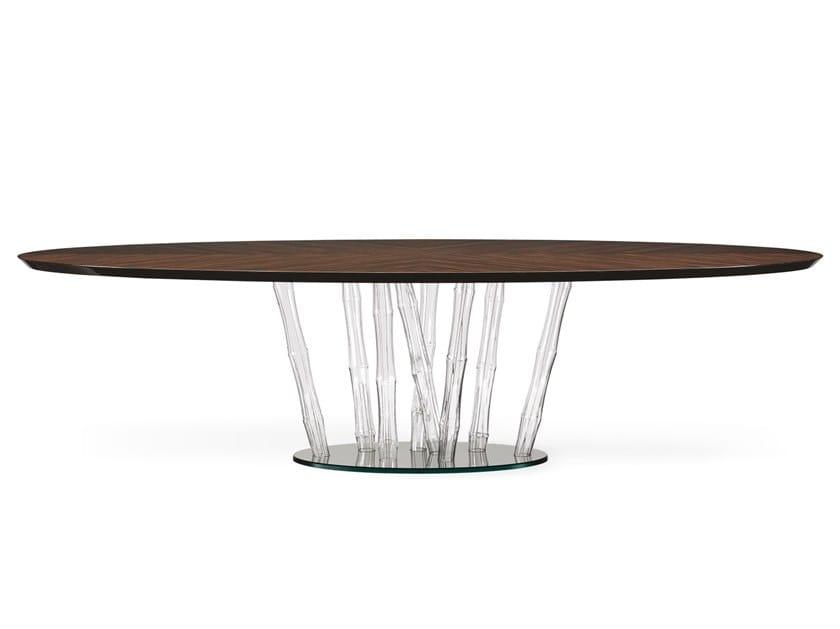 Tavolo da pranzo ovale in legno BAMBOO | Tavolo in legno by Reflex