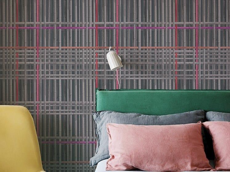 Striped nonwoven wallpaper BAMBÙ TS by Wall&decò