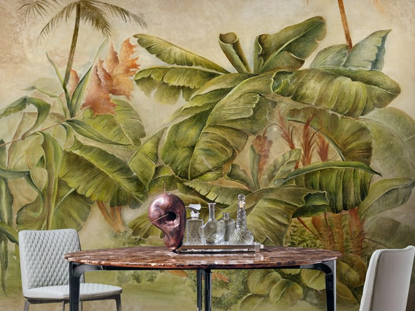 Ecological washable PVC free wallpaper BANANIER by Wallpepper