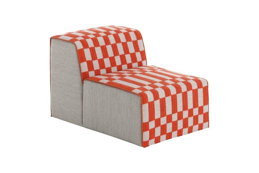 Upholstered modular fabric easy chair BANDAS B | Easy chair by GAN