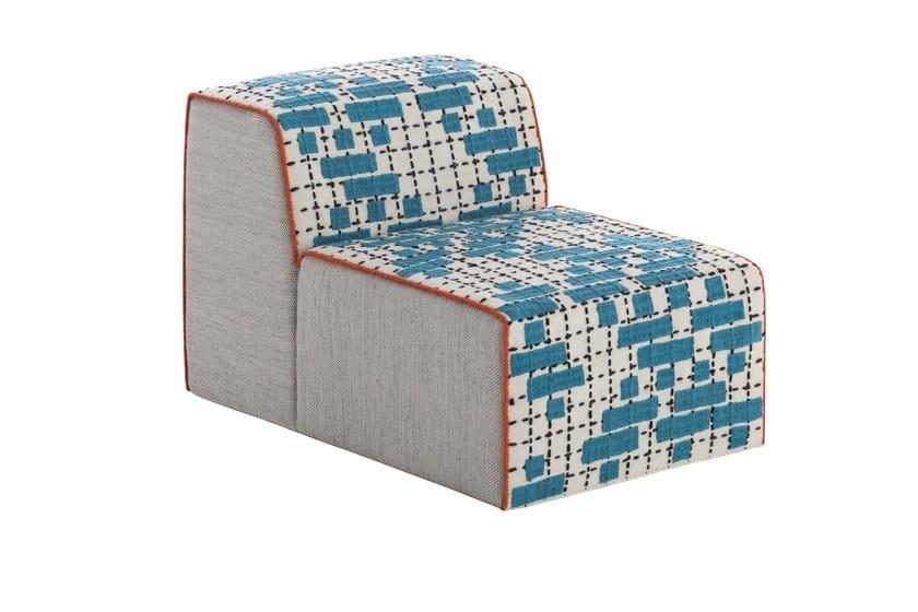Upholstered modular fabric easy chair BANDAS C | Easy chair by GAN